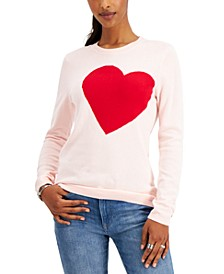 Cotton Heart Intarsia Sweater