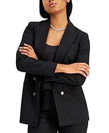 Pin-Striped Faux Double-Breasted Jacket, Created for Macy's