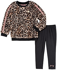 Little Girls Animal Print Top and Legging Set