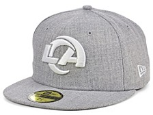 Los Angeles Rams Heather Black White 59FIFTY Cap