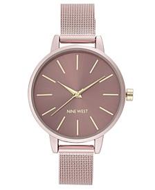 Women's Pink Mesh Bracelet Watch, 38mm