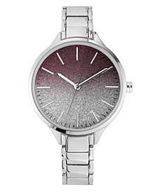 Women's Silver-Tone Bracelet Watch, 36mm