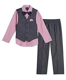 Baby Boys Iridescent Twill Vest Set