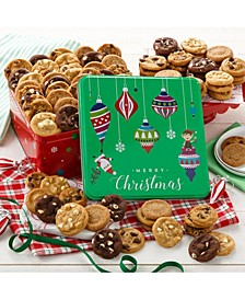 Merry Christmas 90 Nibblers Bite-Sized Cookie Tin