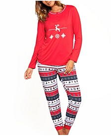 "Women's Cozy Modal "" Roomy"" Holliday Lounge Jogger Pant"