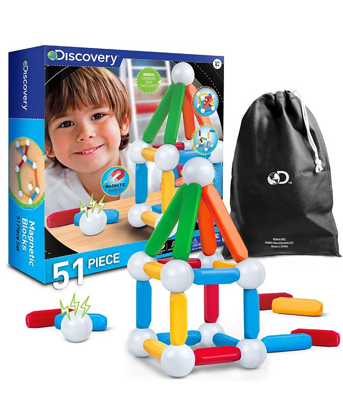 Discovery Kids - Toy Magnetic Building Blocks 51pcs