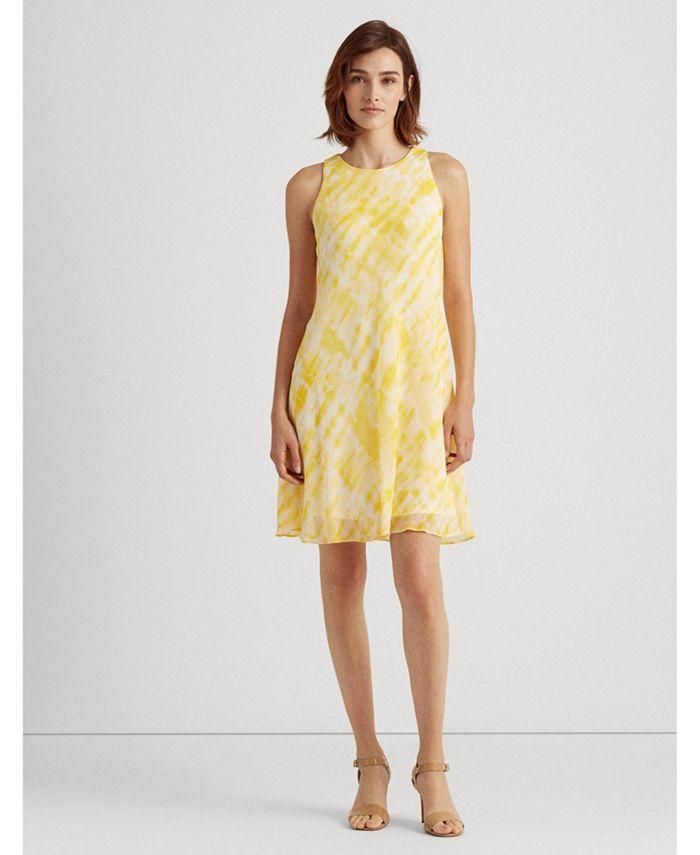 Lauren Ralph Lauren - Tie-Dye Georgette Shift Dress