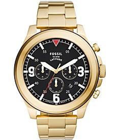 Men's Latitude Gold-Tone Bracelet Watch 50mm