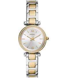 Women's Carlie Mini Two-Tone Bracelet Watch 28mm