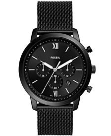 Men's Neutra Black Mesh Strap Watch 44mm