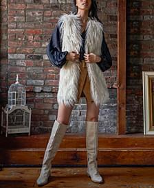 Starlight Mongolian Shaggy Faux-Fur Vest