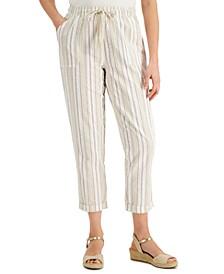 Striped Cuffed Capri Pants, Created for Macy's