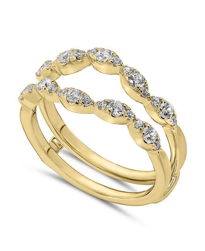 Macy's - Diamond Enhancer Ring Guard (1/2 ct. tw.) in 14K Gold