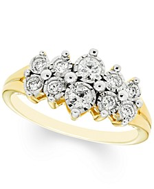 Diamond Cluster Ring (3/8 ct. t.w.) in 10k Gold