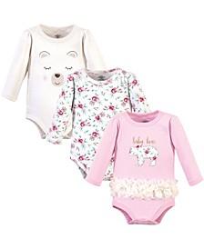 Baby Girls 3 Piece Cotton Bodysuits