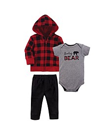 Baby Boys and Girls 3 Piece Hoodie, Tee Top and Pant Set