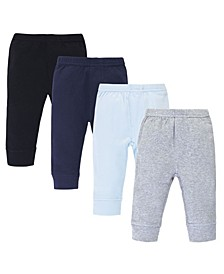 Baby Boys and Girls 4 Piece Organic Cotton Pants