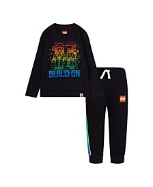 LEGO Little Boys T-shirt and French Terry Joggers Set