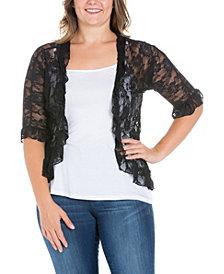 Women's Plus Size Ruffle Lace Bolero Shrug
