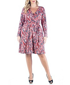Women's Plus Size Belted Dress