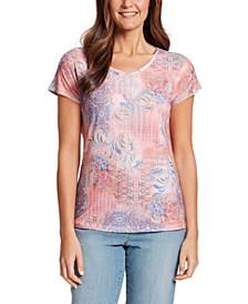 Women's Opal Baroque Montage T-shirt