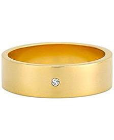 Diamond Accent Polished Band in 14k Gold-Plated Sterling Silver