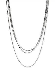 "Silver-Tone Crystal Long Wrap Strand Necklace, 72"" + 2"" extender"