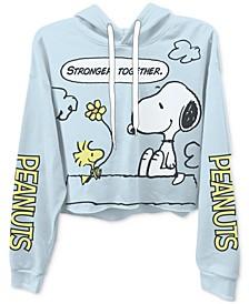 Juniors Snoopy Graphic Print Hoodie