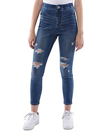 Juniors' High Rise Curvy Pull-On Jeans