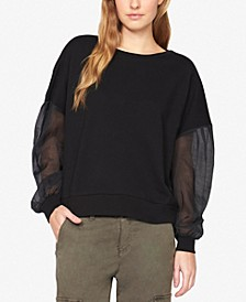 Sheer-Sleeve Top