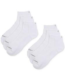 Men's 6-Pack Extended Quarter-Crew Socks