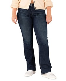 Plus Size Suki Slim-Fit Bootcut Jeans