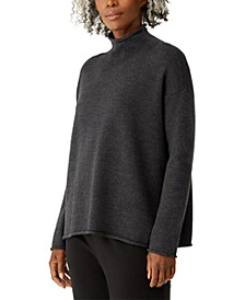 Wool Funnel Neck Sweater