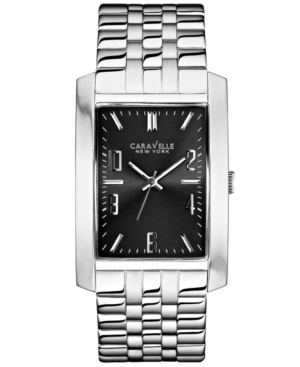 Caravelle New York by Bulova Men's Stainless Steel Bracelet Watch 44x30mm 43A118
