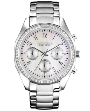 Caravelle New York by Bulova Women's Chronograph Stainless Steel Bracelet Watch 29mm 43L159