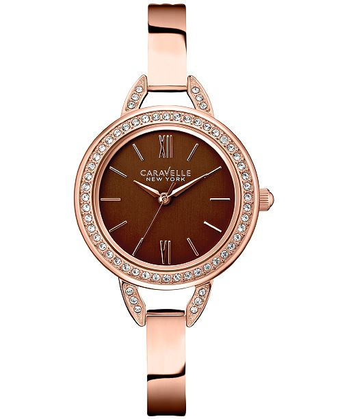dd6a7e703a93b ... Caravelle New York Caravelle Women s Rose Gold-Tone Stainless Steel  Bracelet Watch 28mm 44L134 ...