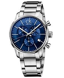 Men's Swiss Chronograph city Stainless Steel Bracelet Watch 43mm K2G2714N