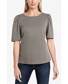 Women's Puff Sleeve Heritage Check Top