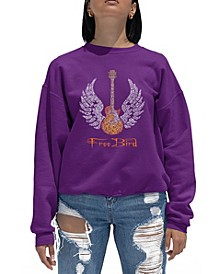 Women's Word Art Crewneck Lyrics To Freebird Sweatshirt