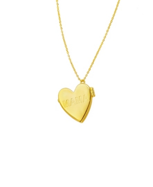 Heart Locket Necklace with Engraved Mama