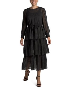 3-Tier Ruffle Maxi Dress