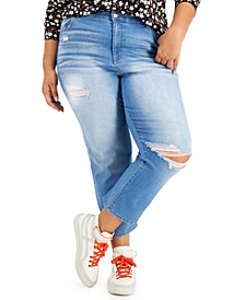 Trendy Plus Size Ripped Straight-Leg Jeans