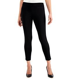 Petite Pull-On Cropped Slim-Leg Pants