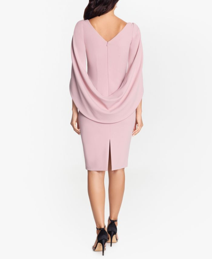 Betsy & Adam Betsey & Adam Cape-Sleeve Dress & Face Mask & Reviews - Dresses - Women - Macy's