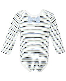 Baby Boys Bowtie Striped Bodysuit, Created for Macy's