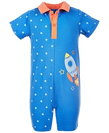 Baby Boys Rocket Cotton Sunsuit, Created for Macy's