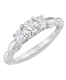 Three Stone Diamond Ring (1 ct. t.w.) in 14K White Gold