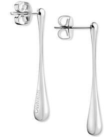 Sculptural Drop Earrings in Stainless Steel
