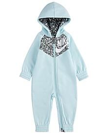 Baby Girls Full-Zip Hooded Coverall