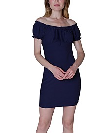 Juniors' Emma Off-The-Shoulder Dress